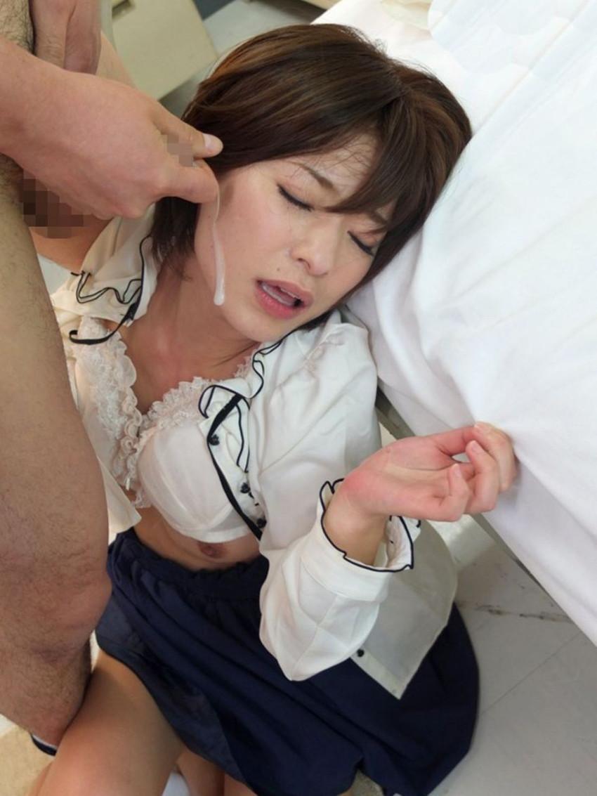 【顔射エロ画像】顔にベットリとかけられたザーメンが卑猥すぎ!www 38