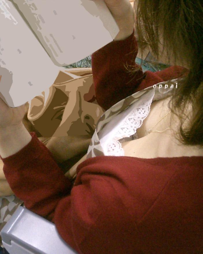 【素人胸チラエロ画像】素人たちのゆるんだ胸元を激写した画像がこちらwww 17