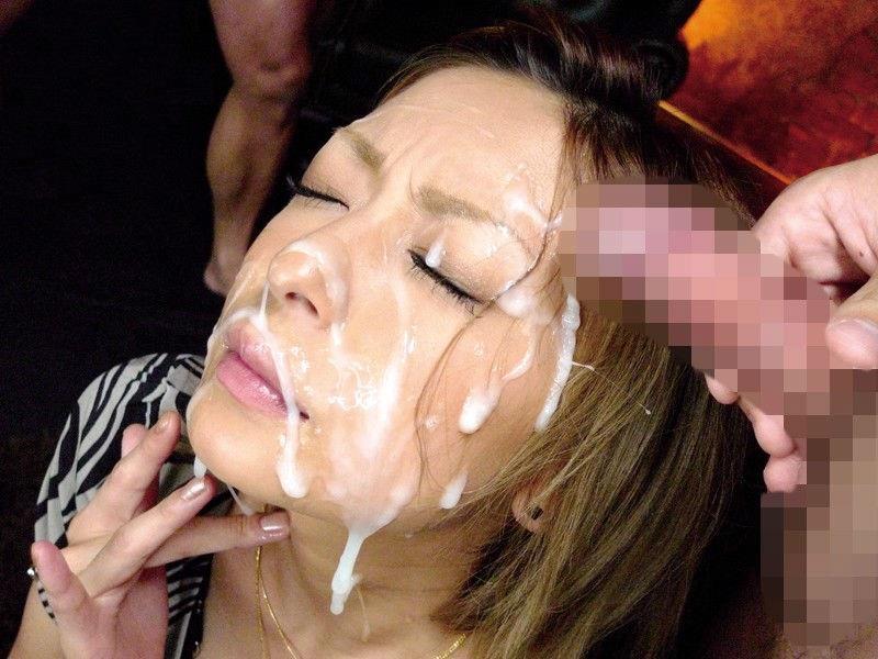 【顔射エロ画像】顔にぶっかけられたザーメンが卑猥すぎる顔射!www 05