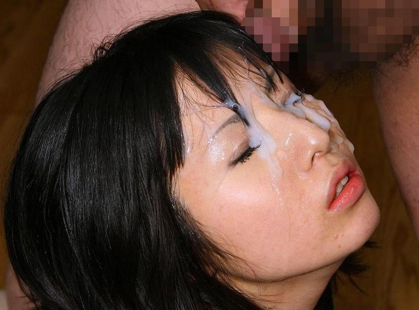 【顔射エロ画像】顔にぶっかけられたザーメンが卑猥すぎる顔射!www 11