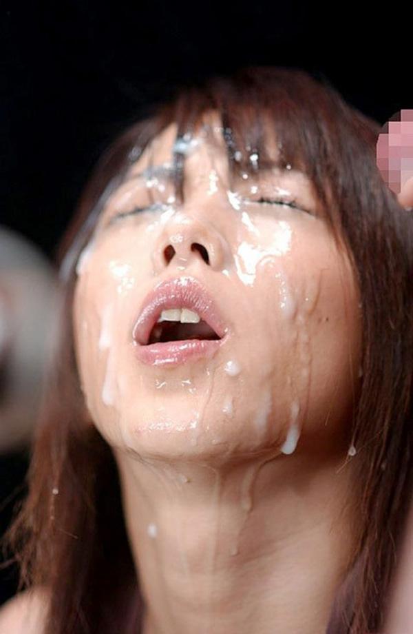 【顔射エロ画像】顔にぶっかけられたザーメンが卑猥すぎる顔射!www 13