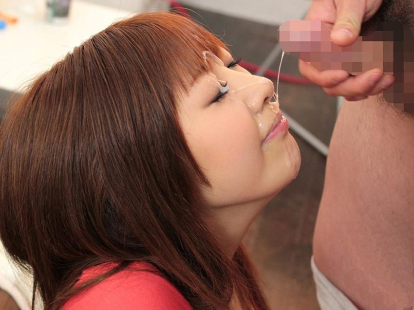【顔射エロ画像】顔にぶっかけられたザーメンが卑猥すぎる顔射!www 40