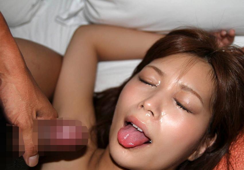【顔射エロ画像】顔にぶっかけられたザーメンが卑猥すぎる顔射!www 41
