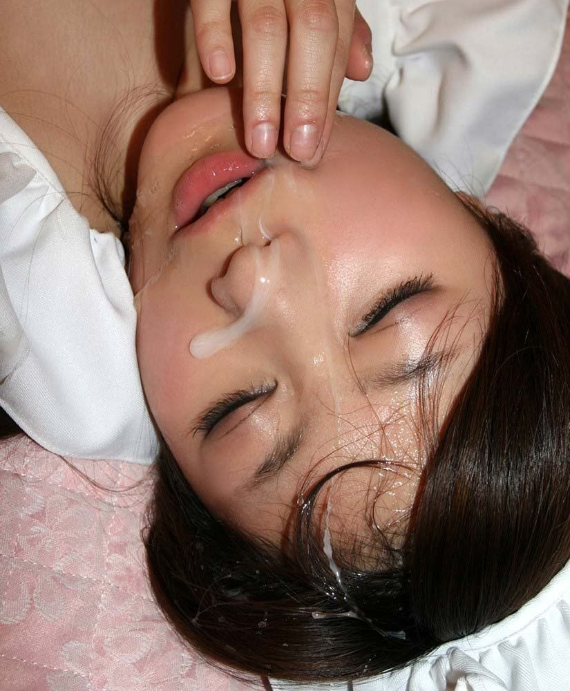 【顔射エロ画像】ドロドロに汚された顔面!滴るザーメンが激エロッ! 07