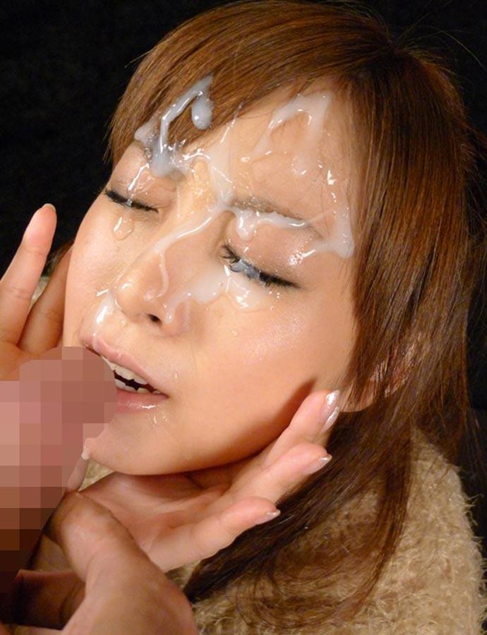 【顔射エロ画像】ドロドロに汚された顔面!滴るザーメンが激エロッ! 12