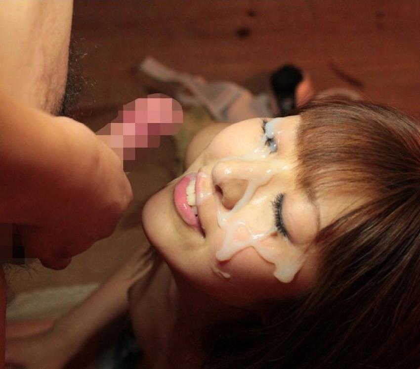 【顔射エロ画像】ドロドロに汚された顔面!滴るザーメンが激エロッ! 28