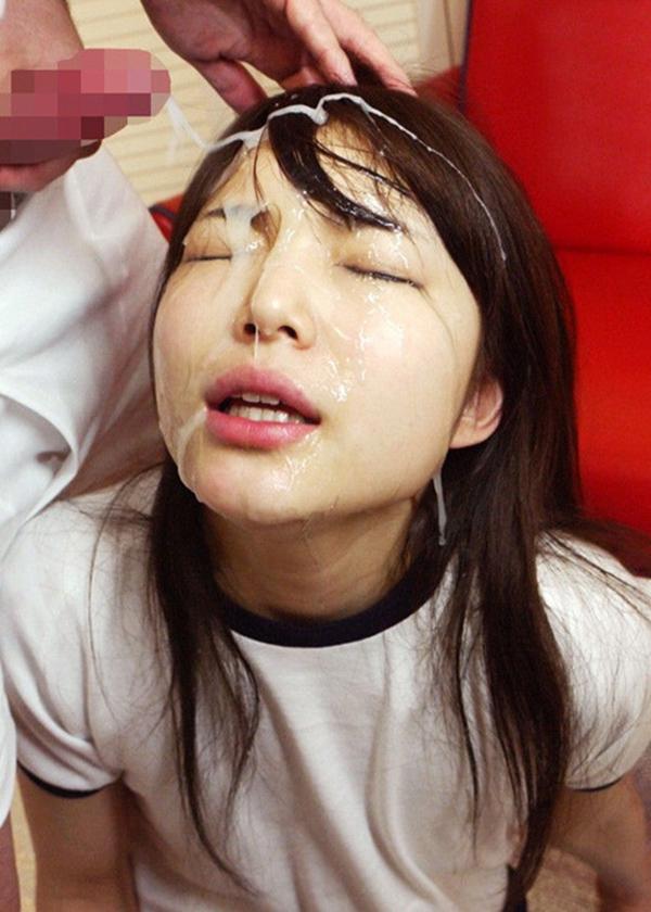 【顔射エロ画像】ドロドロに汚された顔面!滴るザーメンが激エロッ! 33