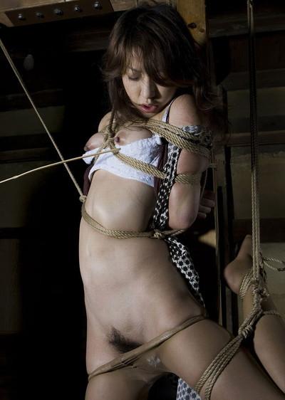 【緊縛プレイエロ画像】拘束されて自由のきかなくなった女の子の身体を玩具に!? 20