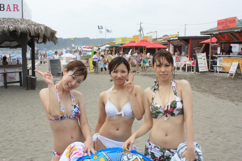 【素人水着エロ画像】ガチ素人娘たちの水着姿が生々しくて抜けるッ! 18