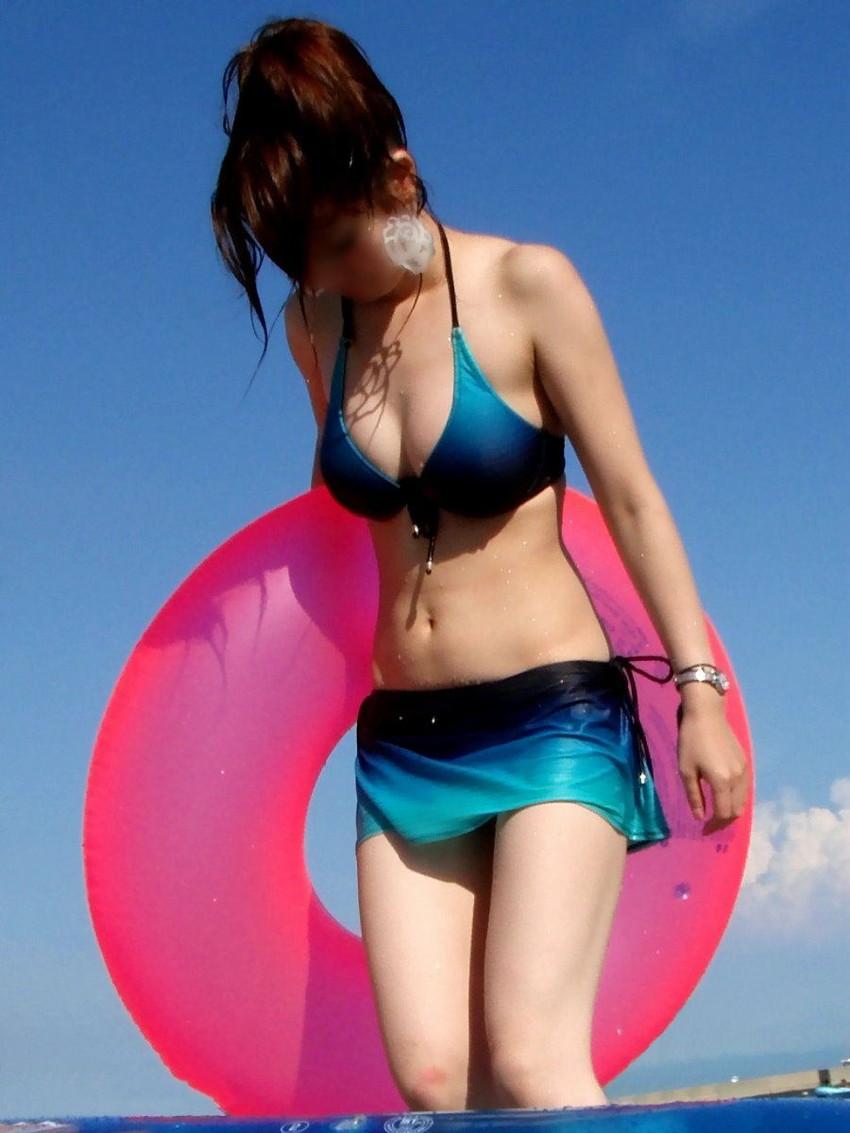 【素人水着エロ画像】ガチ素人娘たちの水着姿が生々しくて抜けるッ! 39