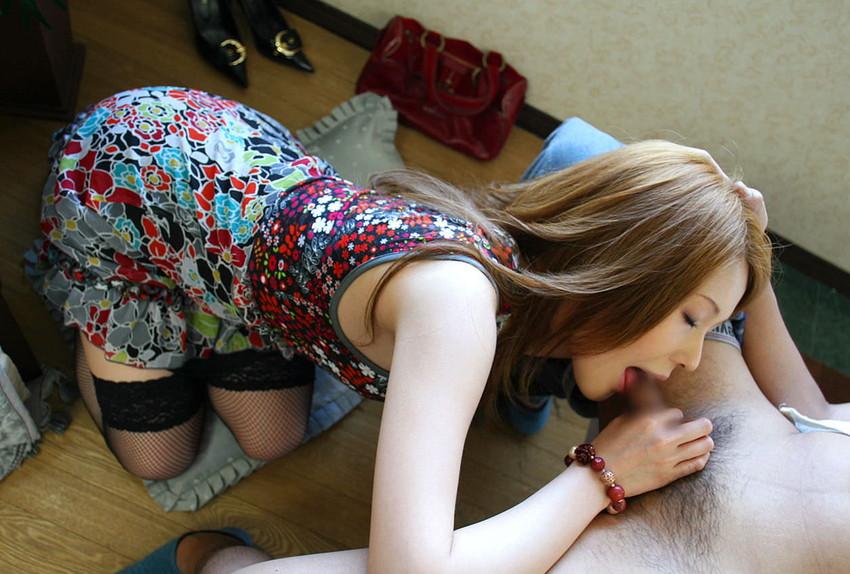 【着衣フェラチオエロ画像】着衣をきたままフェラチオする女、エロ杉だろ! 48