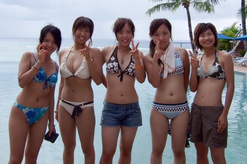 【素人水着エロ画像】素人娘たちの生々しい水着姿にドッキドキ!wwww 17