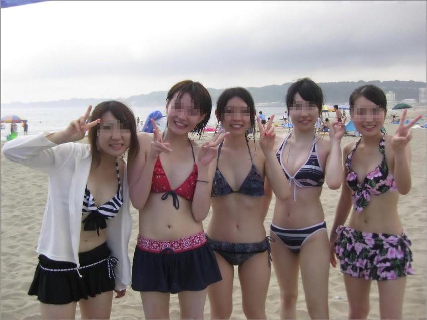 【素人水着エロ画像】素人娘たちの生々しい水着姿にドッキドキ!wwww 42