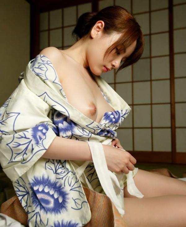 【和服エロ画像】和服姿でエロ写真!日本人男子なら感動モノだよな!?www 09