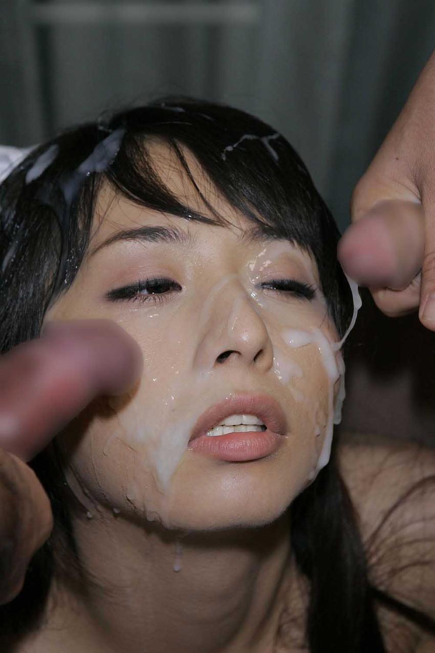 【顔射エロ画像】顔にザーメンぶっかけられた女の子たちの表情って抜けるだろ!? 35