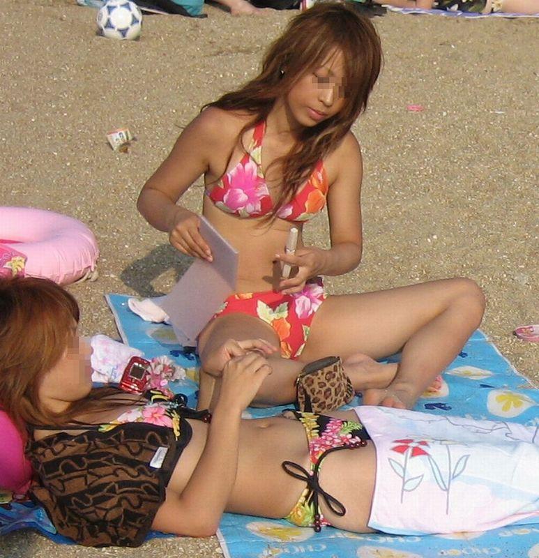 【素人水着エロ画像】素人娘たちの水着姿って生々しくて見ているだけでも勃起するw 47