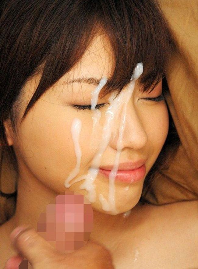 【顔射エロ画像】女の子の顔をドロッドロのザーメンで汚したいってやつ!寄って来いw