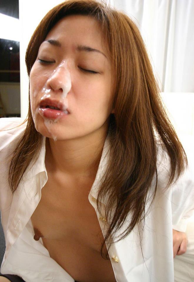 【顔射エロ画像】女の子の顔をドロッドロのザーメンで汚したいってやつ!寄って来いw 06