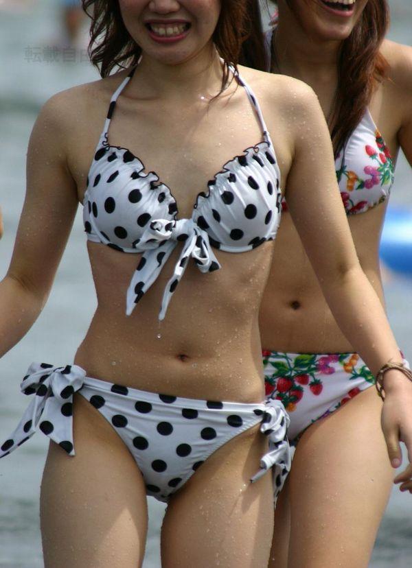 【素人水着エロ画像】素人臭漂う女の子たちの水着画像集めたったwww 39