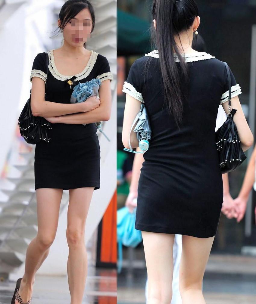 【街撮り美脚エロ画像】スラリと伸びた美脚の女の子を街中でフォーカスしたったw 23