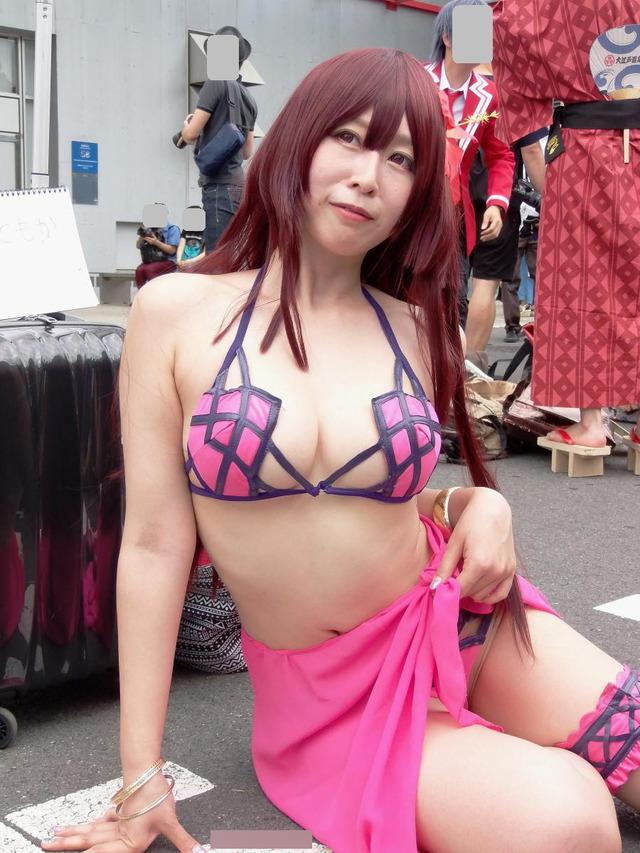 【コミケエロ画像】これがコミケか!?まるで過激衣装の露出大会!wwww 49