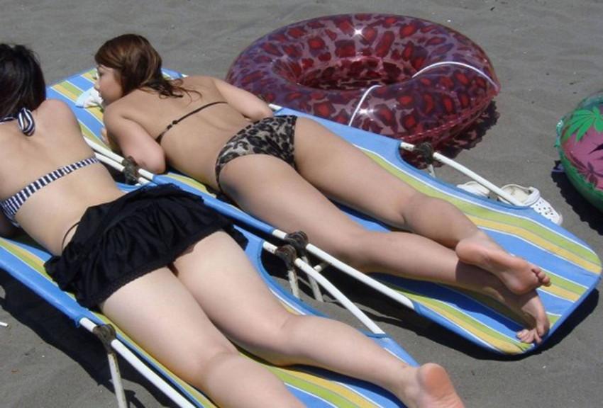 【素人水着エロ画像】いよいよ夏終了間近!素人娘たちの水着姿も見納めか!? 12