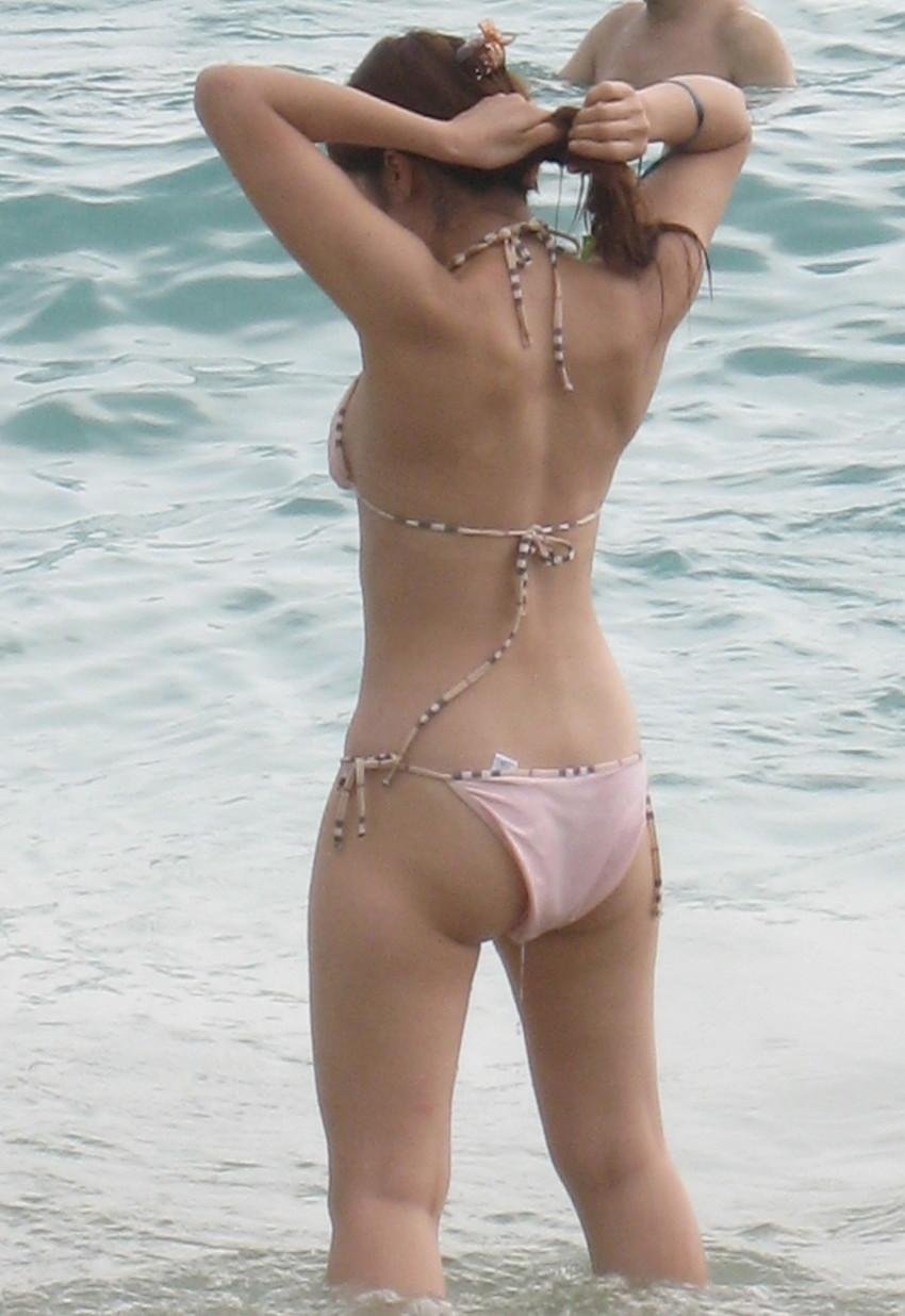 【素人水着エロ画像】いよいよ夏終了間近!素人娘たちの水着姿も見納めか!? 44