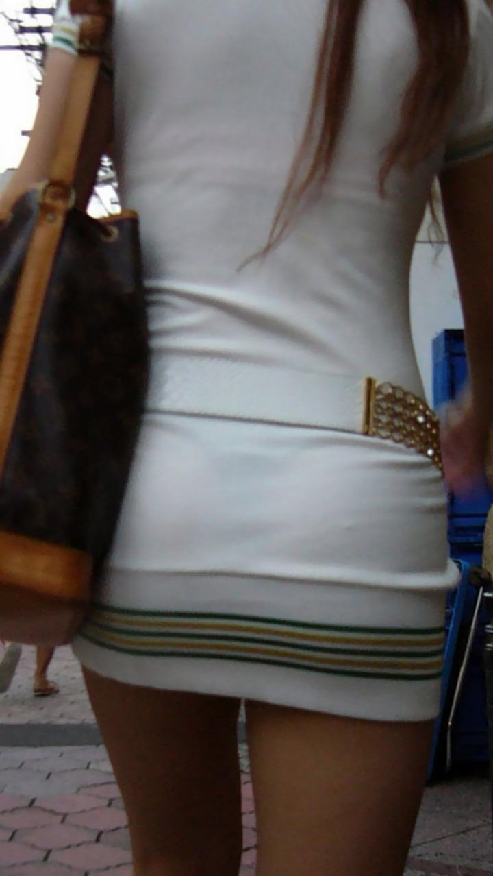 【素人着衣透けエロ画像】故意か不本意か?これじゃ着衣が透けて丸見えだろ!? 08