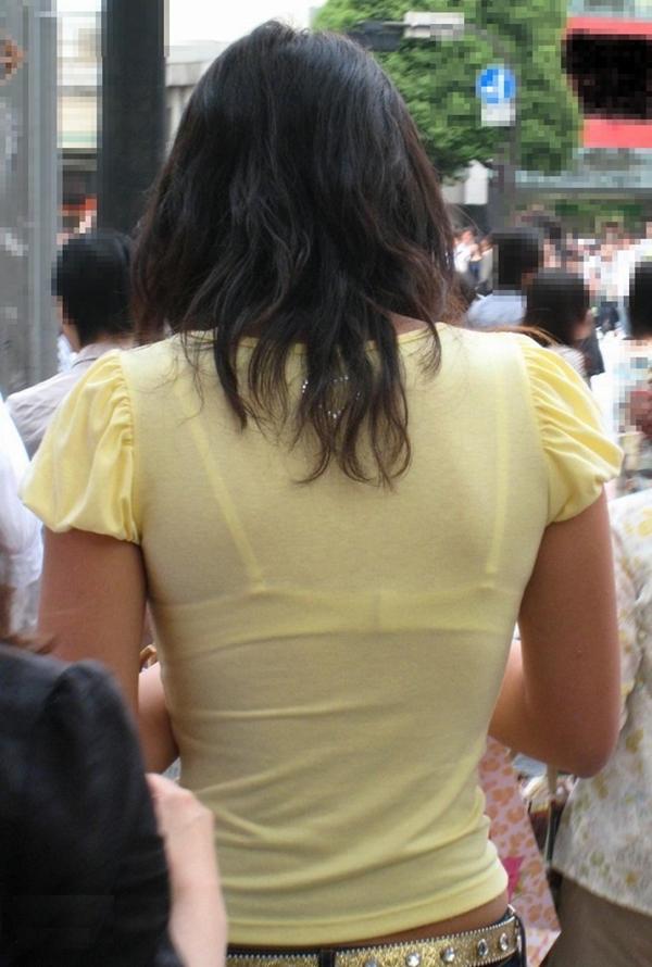 【素人着衣透けエロ画像】故意か不本意か?これじゃ着衣が透けて丸見えだろ!? 18