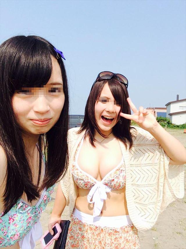 【素人水着エロ画像】素人の女の子たちの生々しい水着姿に勃起不可避!www 05