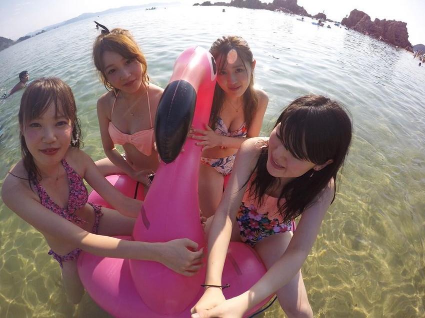 【素人水着エロ画像】素人の女の子たちの生々しい水着姿に勃起不可避!www 29