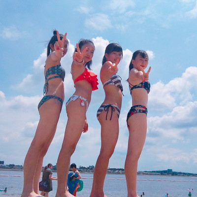 【素人水着エロ画像】素人の女の子たちの生々しい水着姿に勃起不可避!www 40