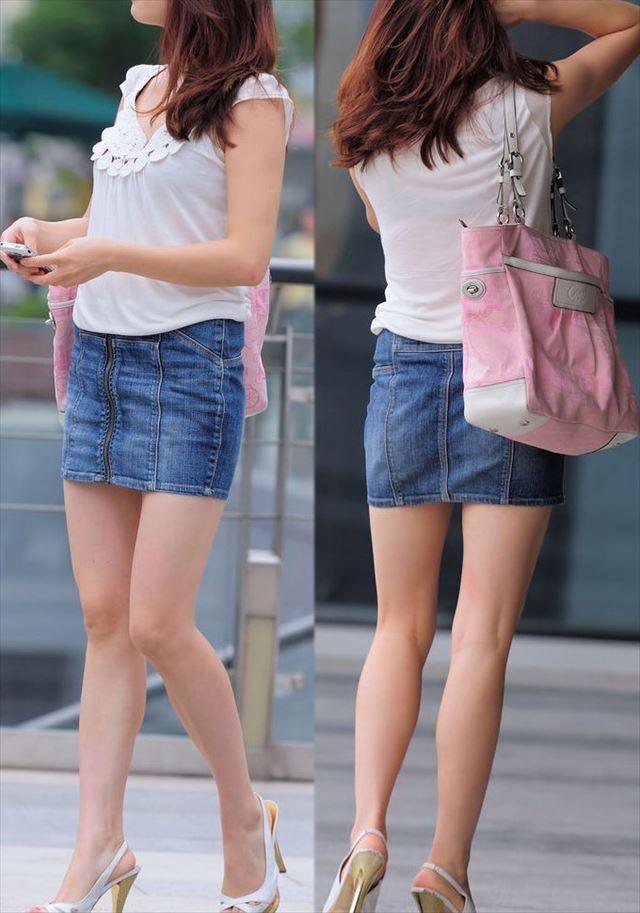 【街撮り美脚エロ画像】街中で見かけた美脚な女の子の画像集めたったwww 09