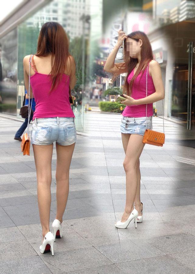 【街撮り美脚エロ画像】街中で見かけた美脚な女の子の画像集めたったwww 35