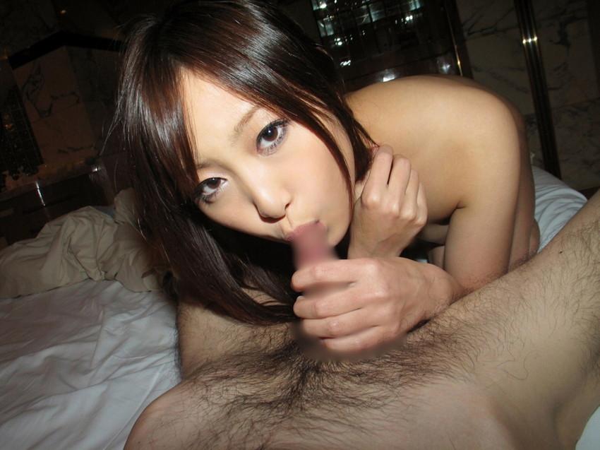 【全裸フェラチオエロ画像】一糸まとわぬ姿!全裸で行うフェラチオという奉仕! 36
