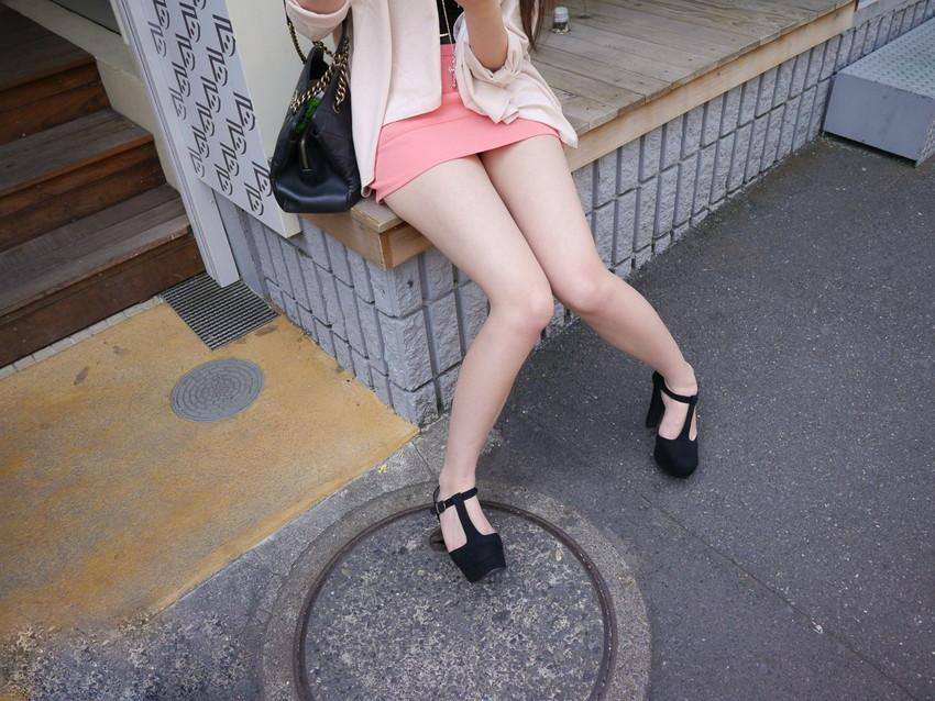 【美脚エロ画像】おいしそうな生足!美脚の女の子の画像集めたった! 53