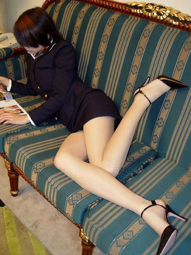【美脚エロ画像】この脚線美を理解できるか!?美脚フェチ必見のエロ画像! 48