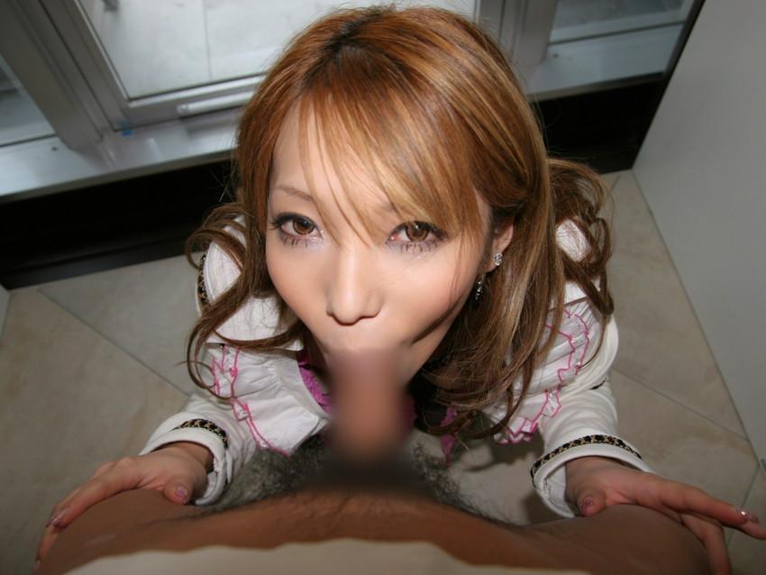 【着衣フェラチオエロ画像】チンポ大好き女は脱衣前からチンポを求めてしゃぶりつく! 55