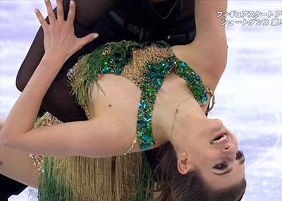 フィギュアスケートで乳首が映るお○ぱいポロリ放送事故まとめ