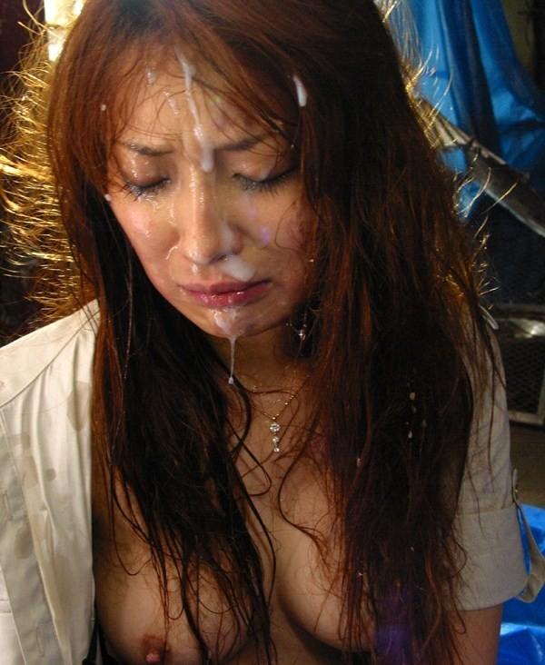 【顔射エロ画像】顔面ザーメンまみれ!顔射の餌食にされた女の子画像! 16