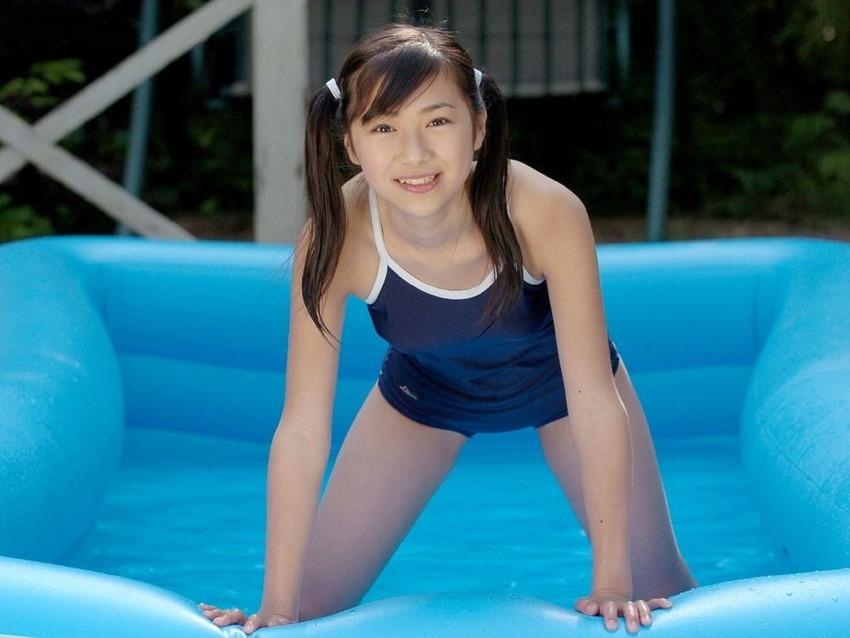【スク水エロ画像】学校指定のスクール水着…これってなんかエロいんじゃね?www 38