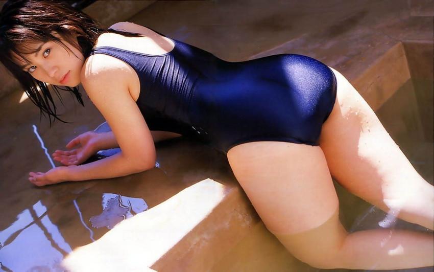【スク水エロ画像】学校指定のスクール水着…これってなんかエロいんじゃね?www 57