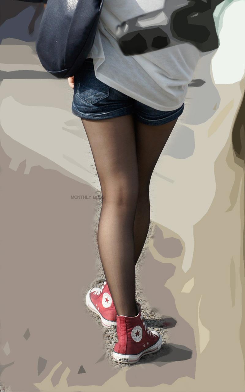【素人ホットパンツエロ画像】暖かくなると見かける太ももムキだしファッション! 09