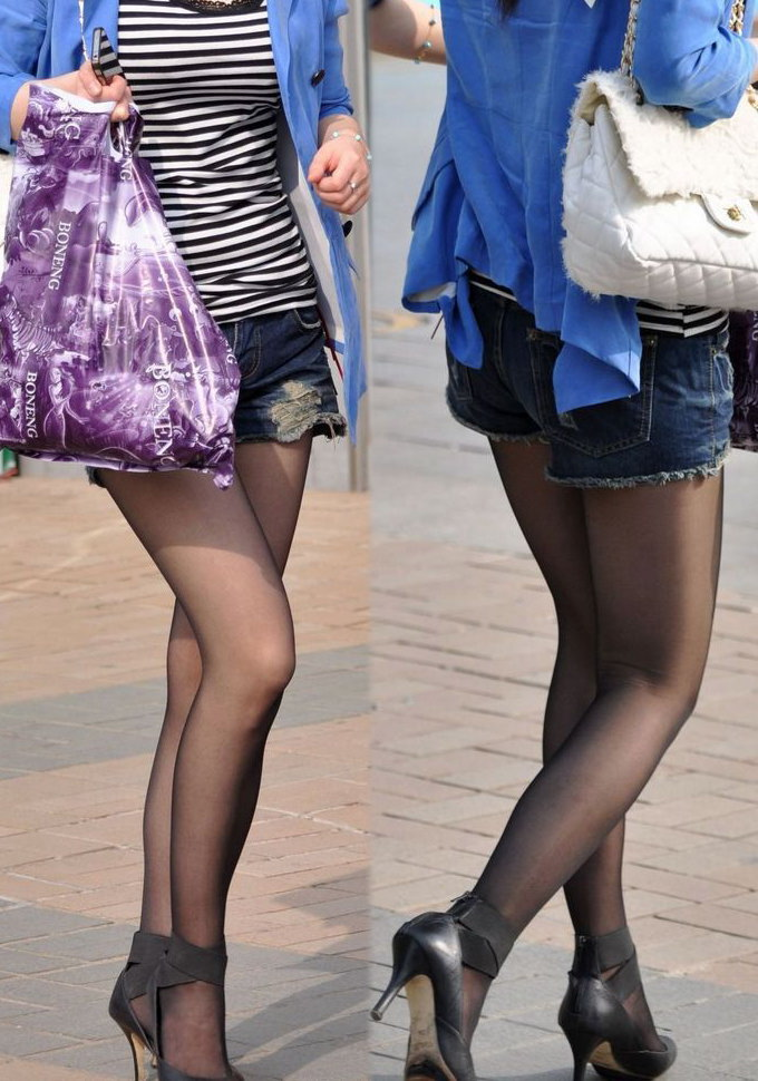 【素人ホットパンツエロ画像】暖かくなると見かける太ももムキだしファッション! 23