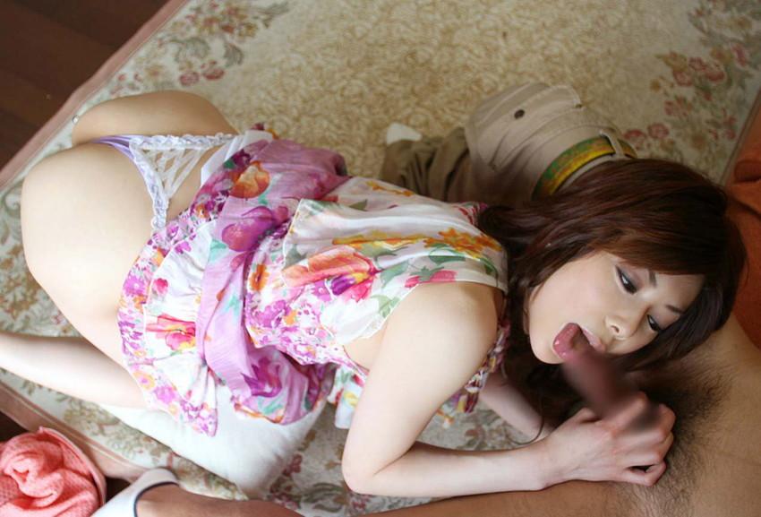 【着衣フェラチオエロ画像】オシャレな女の子が大好きなワイ、着衣のままフェラさせたったww 35