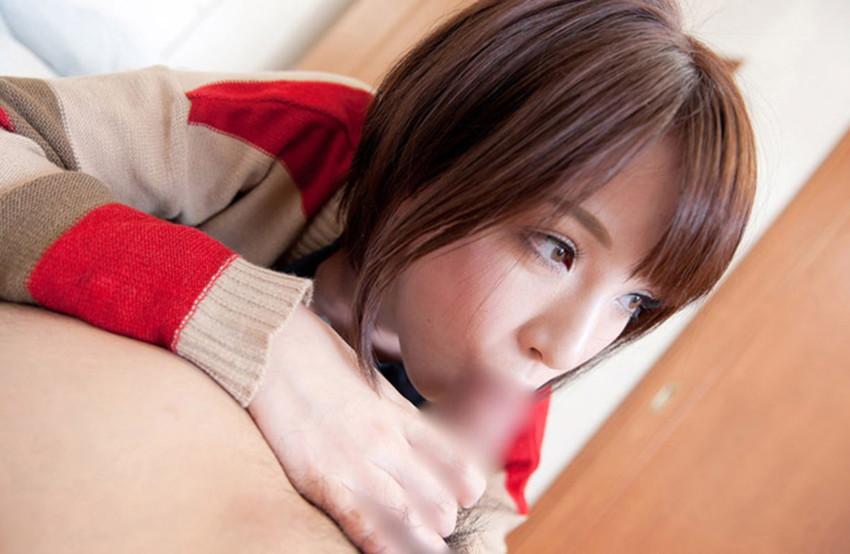 【着衣フェラチオエロ画像】オシャレな女の子が大好きなワイ、着衣のままフェラさせたったww 54