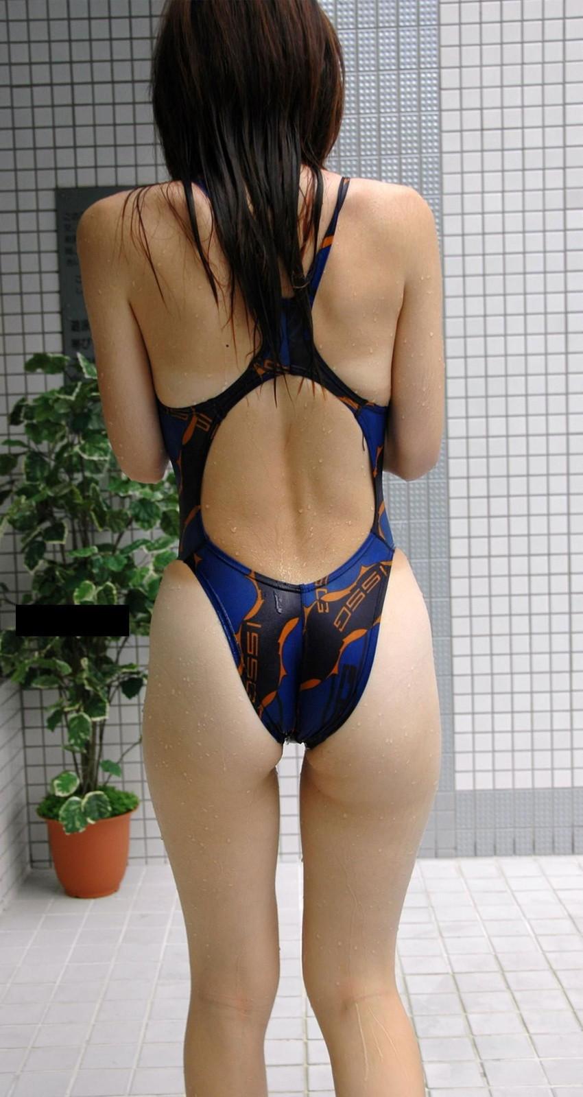 【競泳水着エロ画像】競泳水着っていうけど、これってビキニよりエロい水着なのでは?w 12