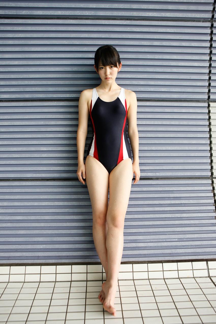 【競泳水着エロ画像】競泳水着っていうけど、これってビキニよりエロい水着なのでは?w 53