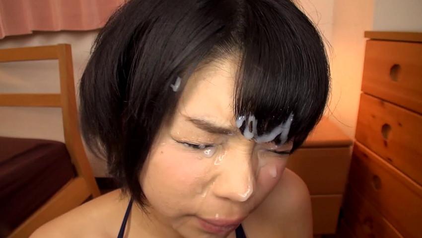 【顔射エロ画像】女の子の顔に男の欲望の汁をぶっかけて征服感を満たす顔射! 34
