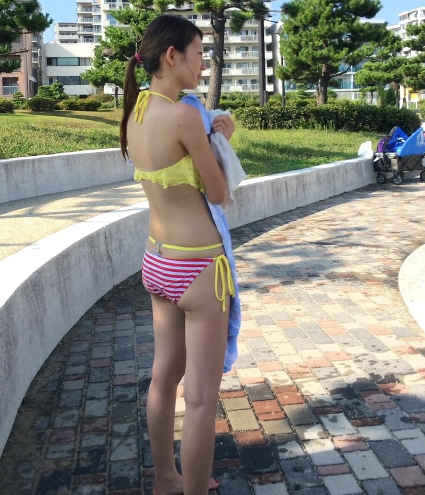 【素人水着エロ画像】素人娘たちの生々しい水着姿にハァハァしてしまうエロ画像ww 18